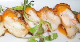 shrimp marinated in Narragansett and grilled with habañero-citrus glaze